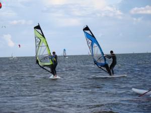 Piersza walka z wiatrem windsurfing w Zatoce Puckiej