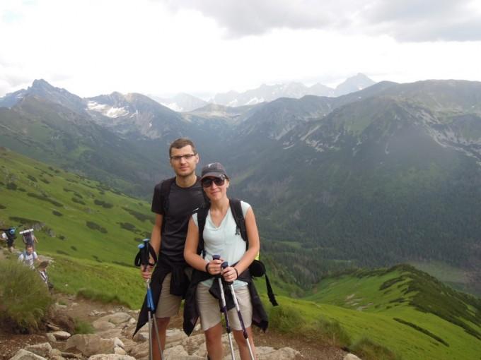 Widok na Tatry Wysokie z grani