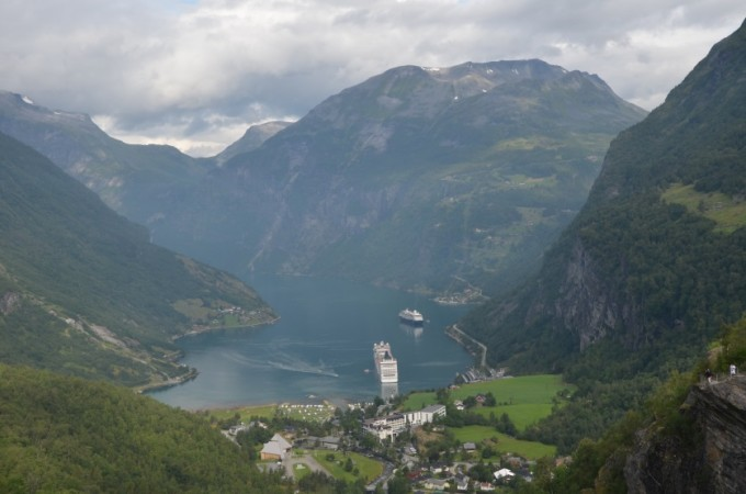 Panorama Geirangerfjord Norwegia