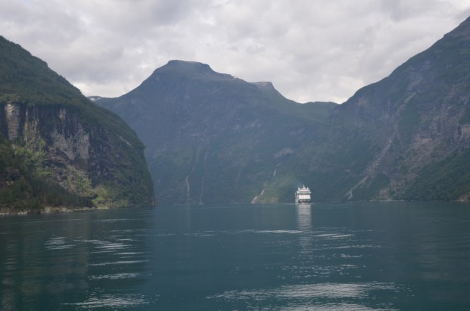 Prom w Geirangerfjord Norwegia