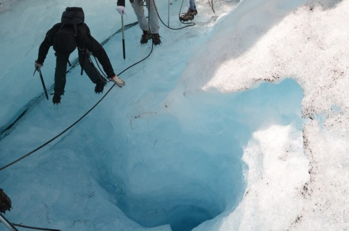 Szczelina w lodowcu Norwegia