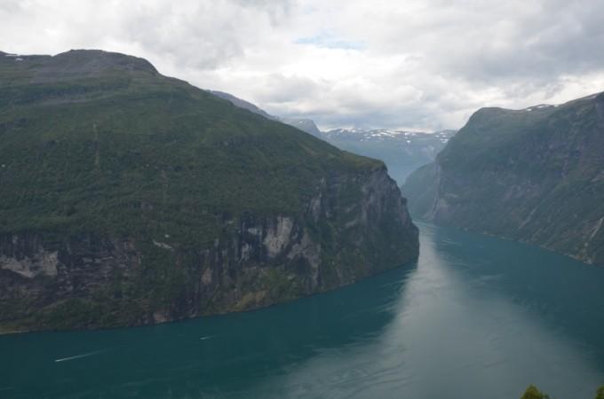 Wodospady Geirangenfjord Norwegia