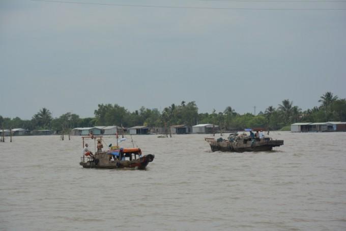 Delta Mekongu rybacy Wietnam