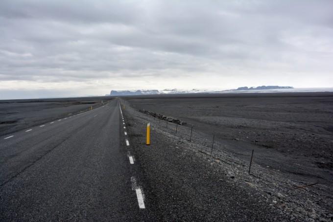 Droga przez sandur Islandia