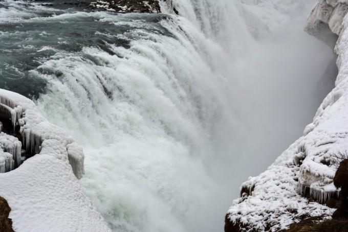 Gullfoss z bliska Islandia