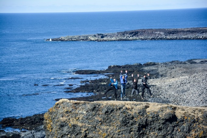 Klif Reykjanesta Islandia