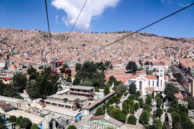Kolejka linowa La Paz Boliwia