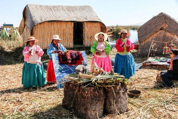 Na wyspach Uros Peru