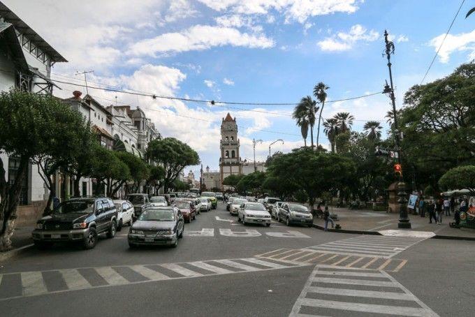 Plaza de Armas w Sucre Boliwia