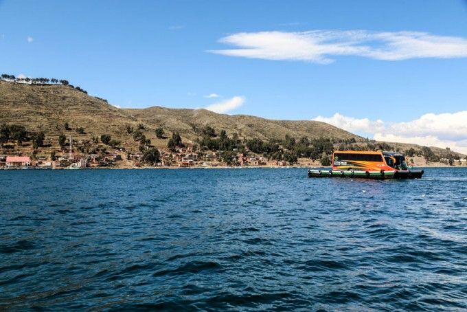 Przeprawa promowa Tiquina Boliwia