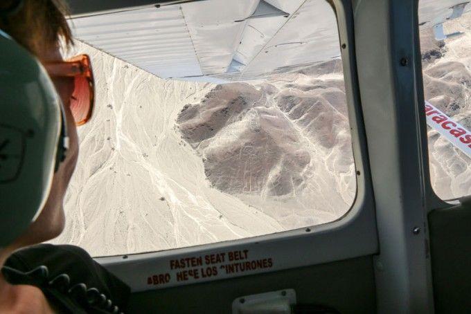 Samolotem nad liniami Nazca Peru