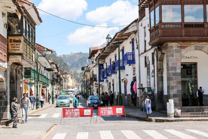 Uliczki Cusco Peru