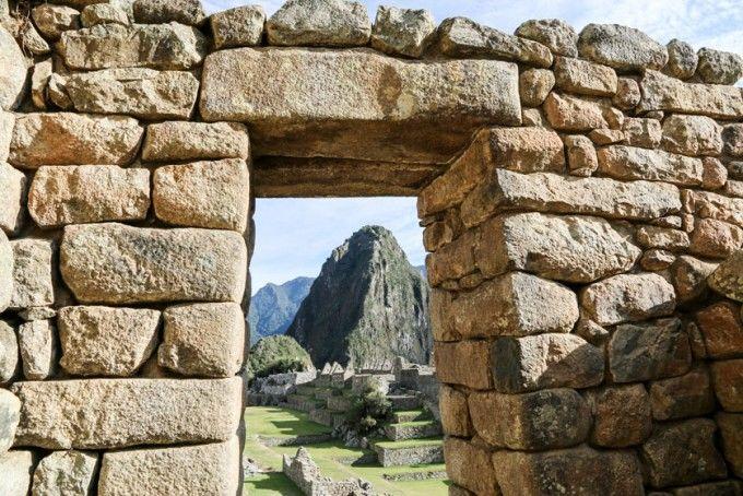 Widok na Huayna Picchu Peru