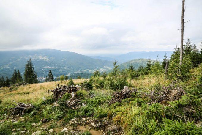 Panorama z trasy na Skrzyczne