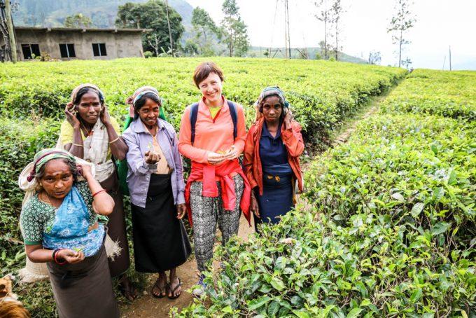 Fabryka herbaty Sri Lanka Tamilki plantacyjne