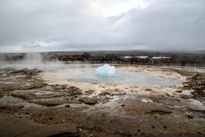 Islandia gejzer