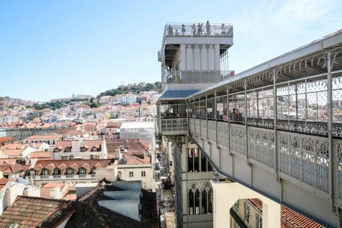 Lizbona Elevador de Santa Justa