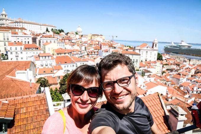 Lizbona Miradouro das Portas do Sol
