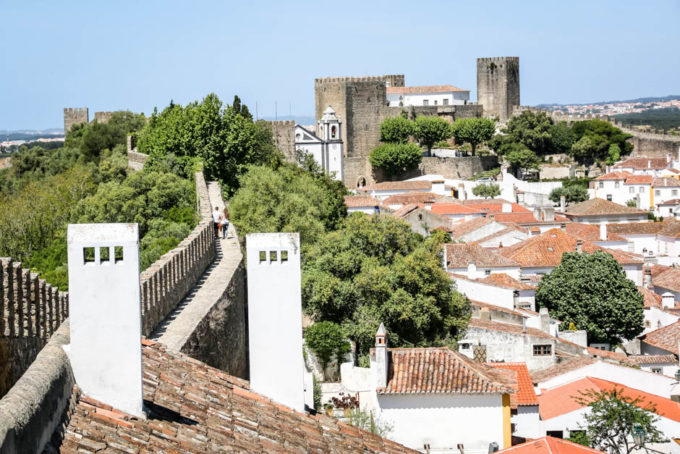 Portugalia Obidos mury