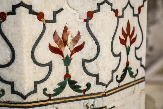 Indie Agra Fort zdobienia
