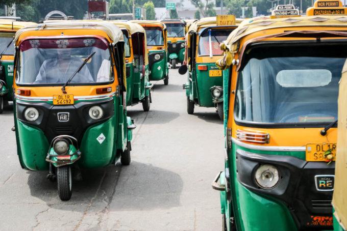 Indie New Delhi tuk-tuki