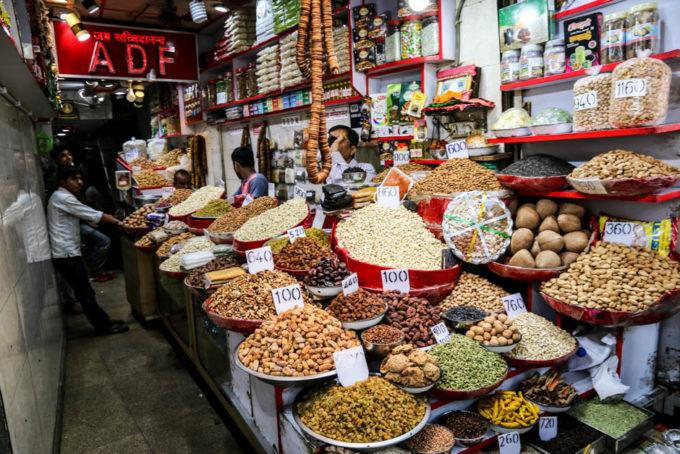 Indie Old Delhi baza przypraw