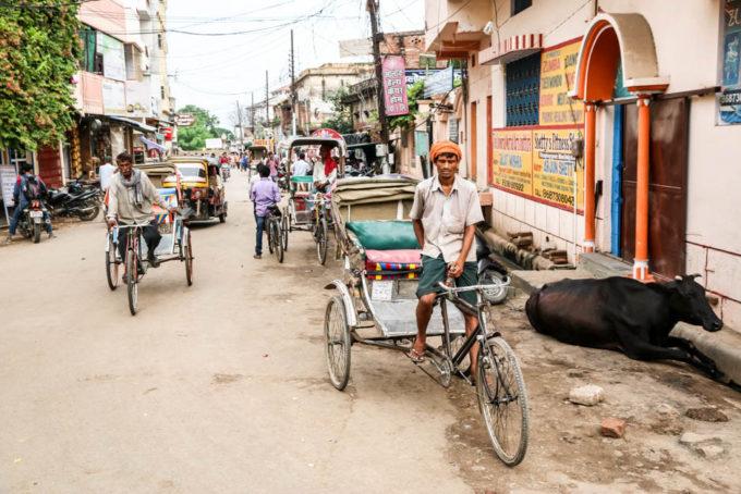 Indie Waranasi riksze