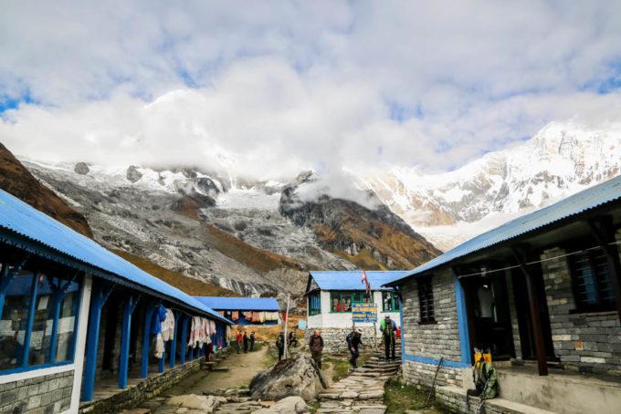 Nepal Annapurna Base Camp panorama 2