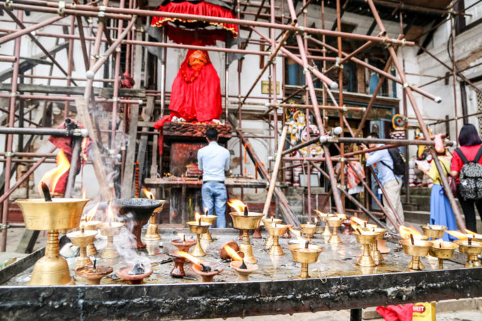 Nepal Kathamandu Durbar Square Hanuman