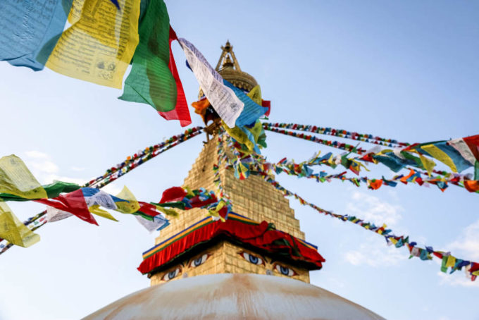 Nepal Katmandu stupa Bodnath
