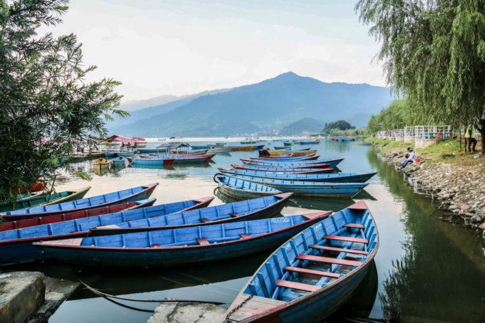 Nepal Pokhara jezioro Fewa Lake