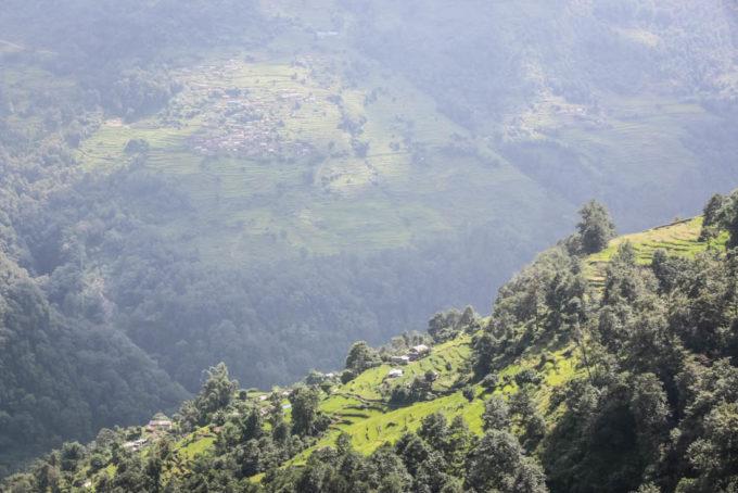 Nepal trekking do ABC dolina