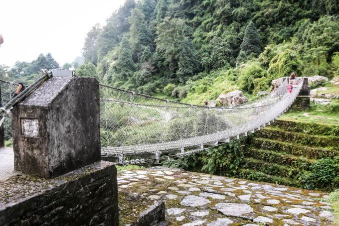 Nepal trekking do ABC most za Ghandruk