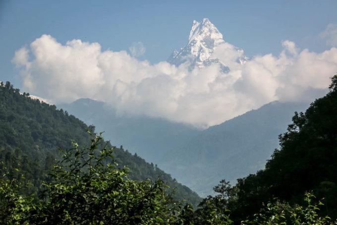 Nepal trekking do ABC wioska Nayapul Machhapuchhare