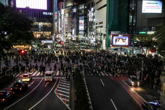 Shibuya crossing ludzie