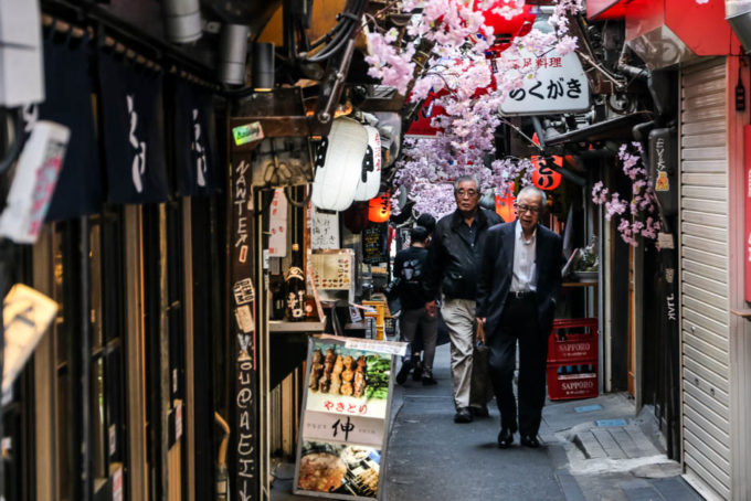 Uliczka Omoide Yokocho Shinjuku