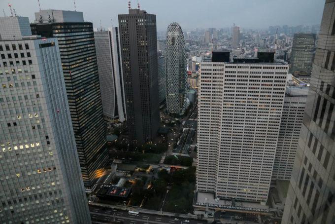 Widok z Metropolitan Government Offices Shinjuku Tokyo