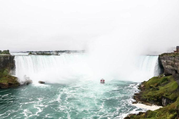 Horseshoe Falls od strony kanadyjskiej