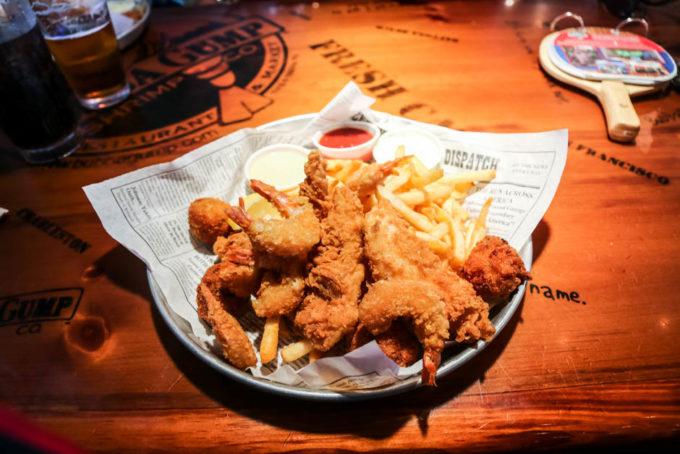 Obiad w Bubba Gump Shrimp