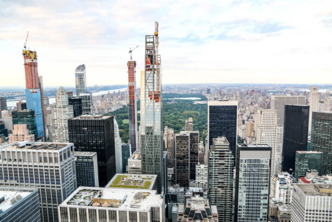 Top of The Rock widok na Central Park