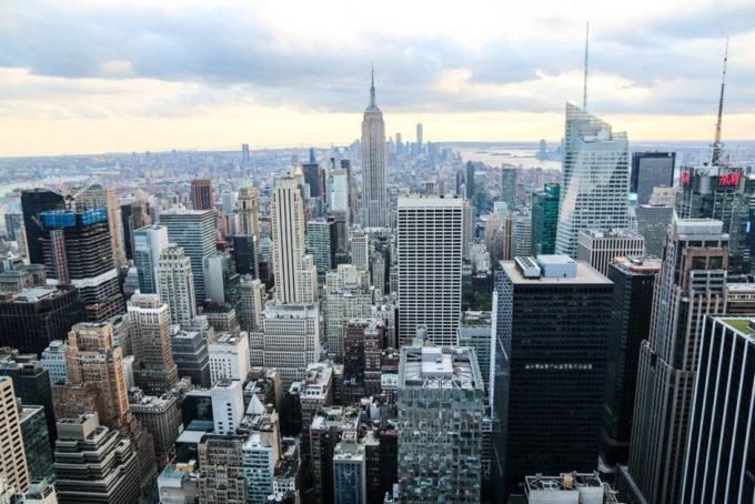 Top of The Rock widok na Dolny Manhattan i Empire State