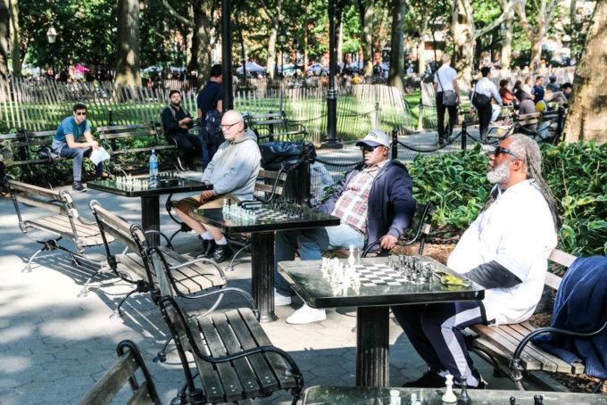 Washington Square Park szachy
