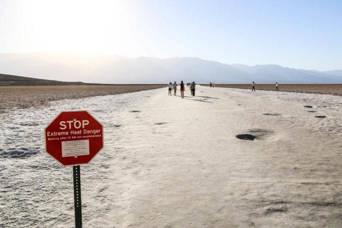 jeziora Badwater extreme danger
