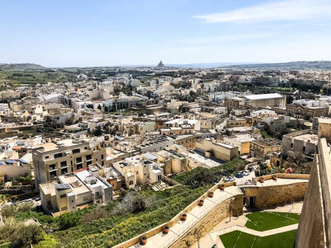Panorama Gozo z Cytadeli Gozo