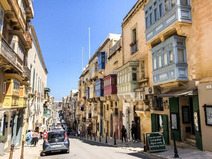 Valetta stare miasto balkony