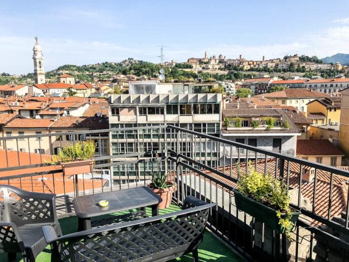 Bergamo widok z balkonu
