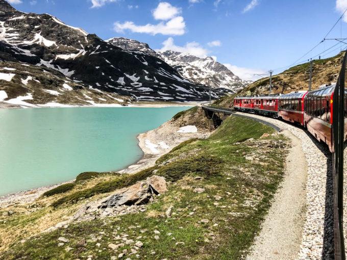 Bernina Express przełęcz Ospizio