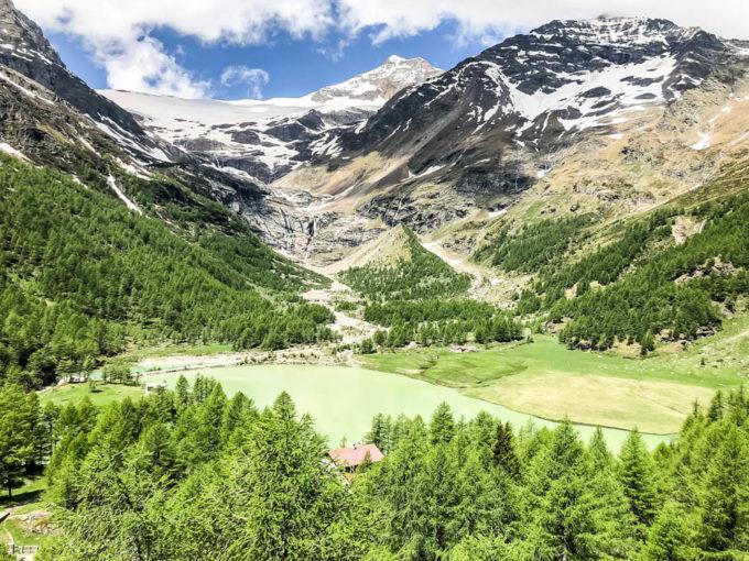 Lodowiec na trasie Bernina Express