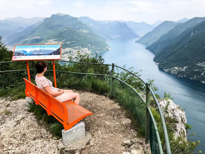 Panoramy jeziora Lugano