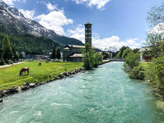 Rzeka w St. Moritz
